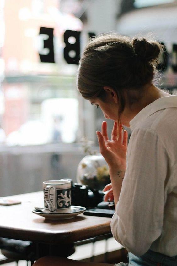 девушка кофе: