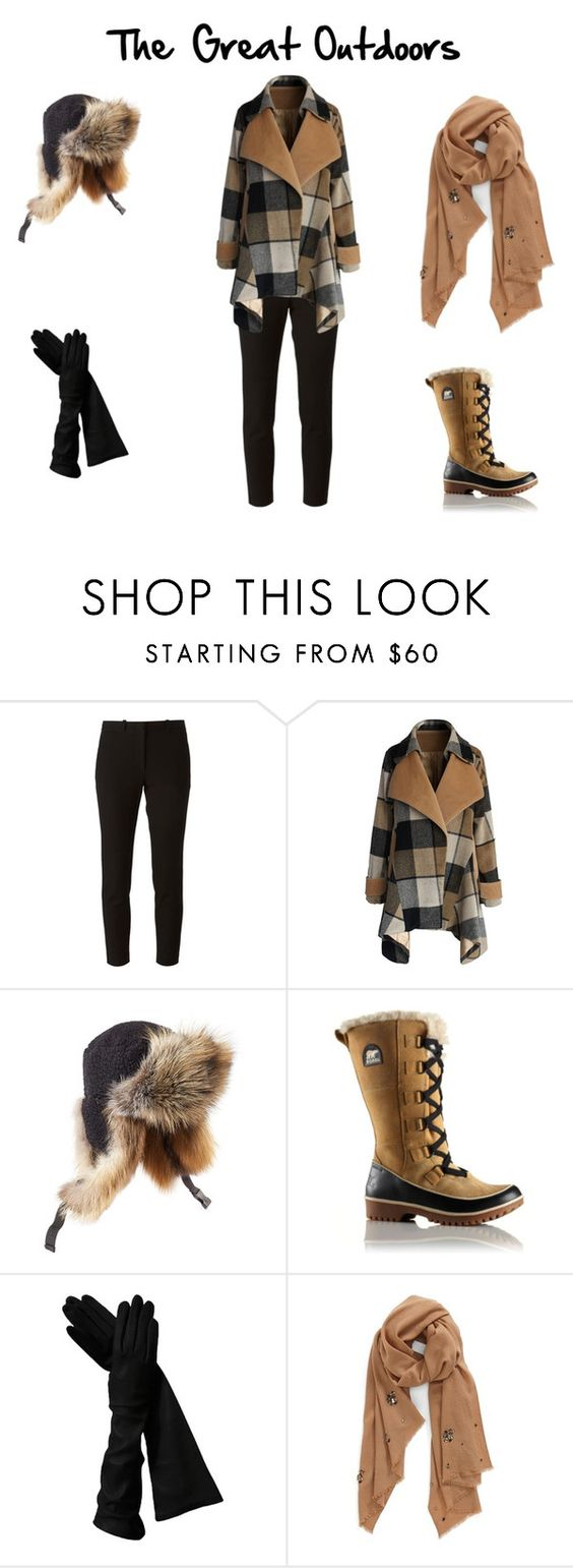 """""""For the great outdoors"""" by shannondewey on Polyvore featuring Joseph, Chicwish, Preen, SOREL and Nordstrom"""