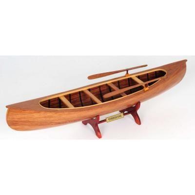 Homeroots Dahlia Abstract Peterborough Canoe 364263 The Home Depot Model Boats Wooden Boat Plans Canoe