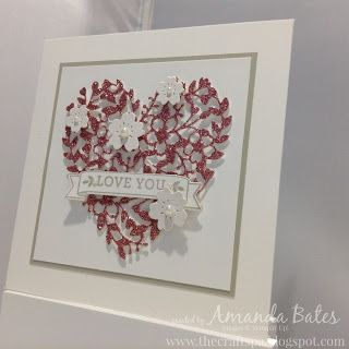 The Craft Spa - Stampin' Up! UK independent demonstrator : Have a heart... a Bloomin' Heart...: