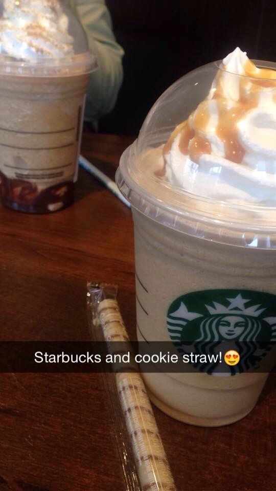 Starbucks with a cookie straw