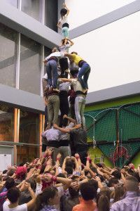 katalanische Menschenturm-Mannschaft der Castellers de Sants beim Training, Foto: Robert B. Fishman, 4.10.2014