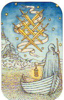 Six of Swords from Medieval Enchantment: The Nigel Jackson Tarot, published by Llewellyn. https://twitter.com/78Whispers https://www.facebook.com/78Whispers http://78whispers.blogspot.com/