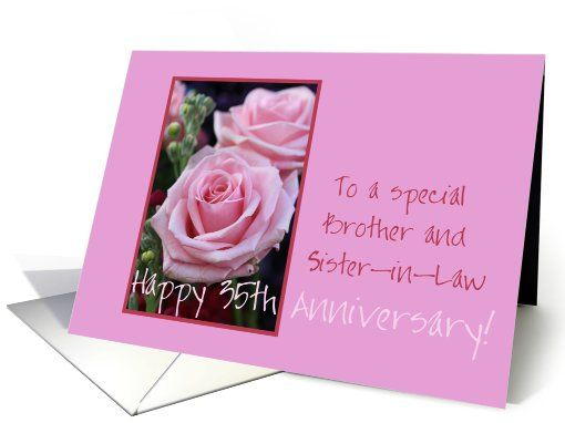 25th Wedding Anniversary Gift For Sister And Brother In Law : ... law anniversaries in laws cards brother sister law brother wedding