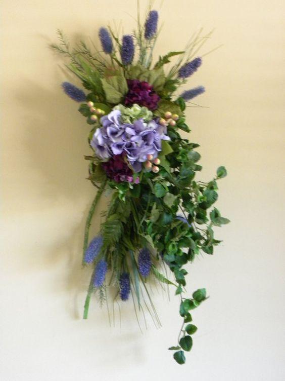 Door swag, Purple hydrangeas and Hydrangea flower on Pinterest