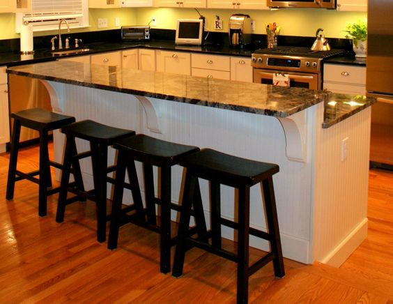 Two Tiered Step Down Kitchen Island Islands Pinterest Eat Wainscoting