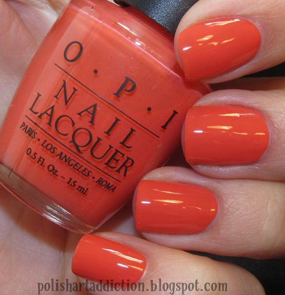Opi A Good Mandarin Is Hard To Find Vs Hot And Spicy OPI: A Good Mandarin i...