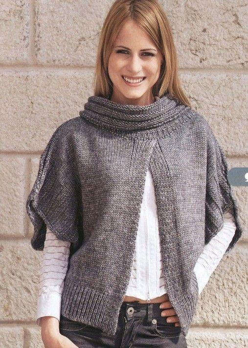 poncho de trico 10: