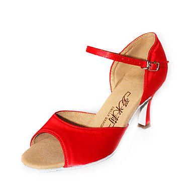 satijn bovenste latin ballroom dans schoenen voor vrouwen meer kleuren – EUR € 12.37