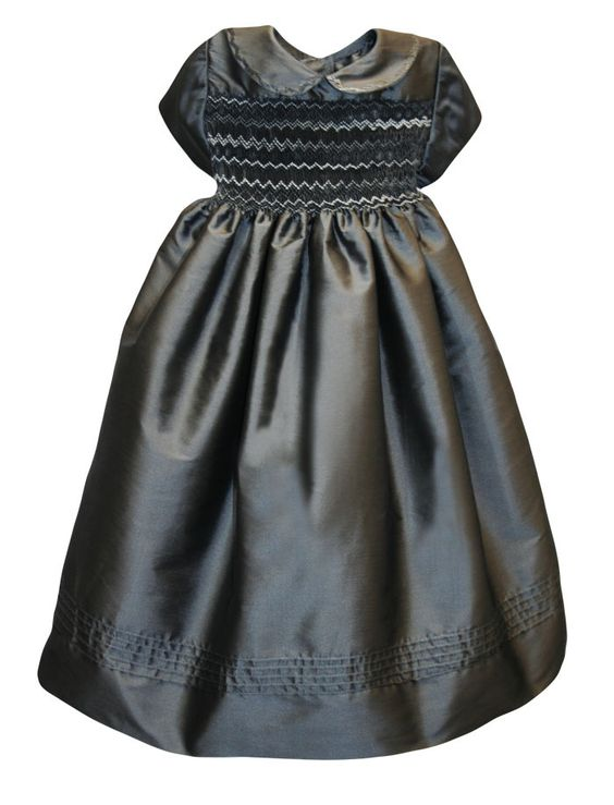 Isabel Garretón - Cap Sleeve Hand Smocked Charcoal Girls Holiday Dress, $207.00 (http://isabelgarreton.com/cap-sleeve-hand-smocked-charcoal-girls-holiday-dress/)