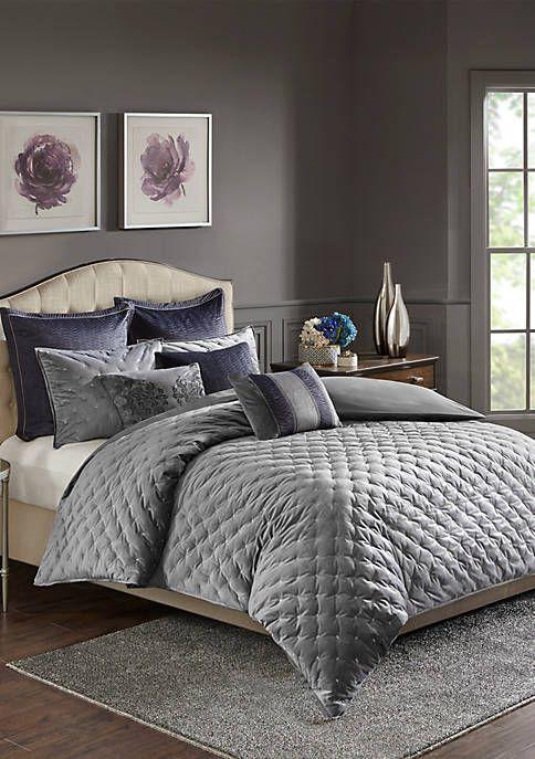 Madison Park Signature Sophisticate Velvet Comforter Set Velvet Comforter Luxury Bedding Sets Comforter Sets