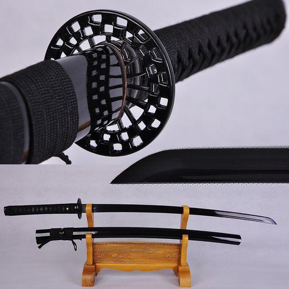 Günstige Hochwertige japanische samurai schwert katana schwarz ninja voller zapfen klinge scharf, Kaufe Qualität Metall Handwerk direkt vom China-Lieferanten: Hochwertige japanische samurai-schwert katana schwarz ninja voller zapfen klinge scharfSpezifikationen:Gesamtlänge: 40,9