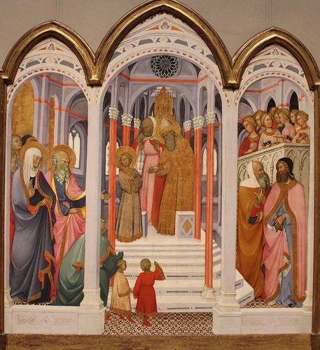 The Presentation of the Virgin,  National Gallery of Art PAOLO DI GIOVANNI FEI (Siena, 1345 – 1411)   #TuscanyAgriturismoGiratola