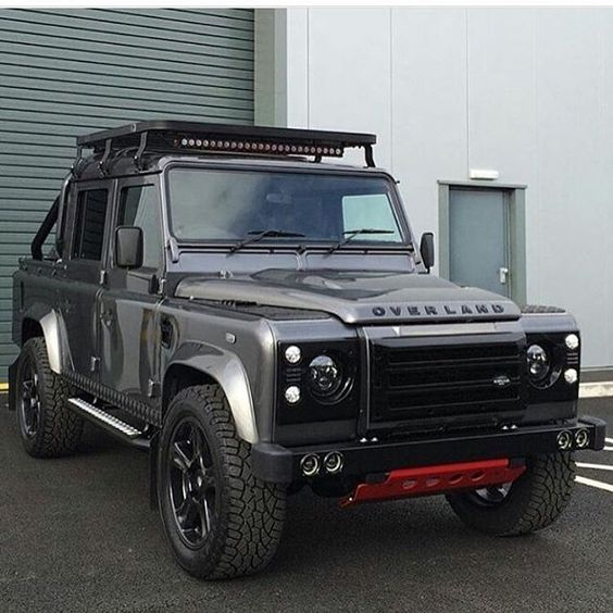 by @smcautomotive @landroversoflondon #defender #landrover #landroverdefender #offroad #offroading #british #english #mud #mudding #best4x4xfar #4x4 #modified #classic #icon #luxury #cars #grey #red #d110 #black #retro #love #customised #overland #onelifeliveit #adventure #design #carswithoutlimits #beast #greatphoto #modified