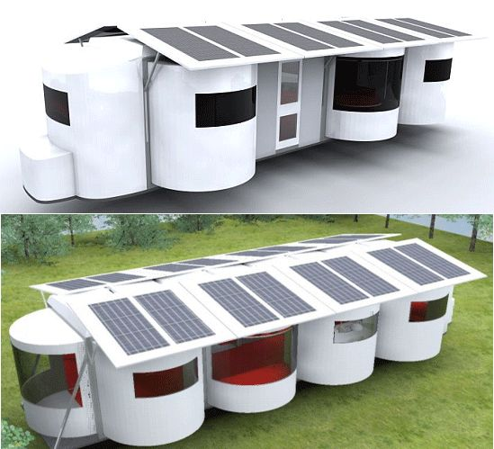Be-coc Modular Solar caravan is a dream come true for nature lovers.