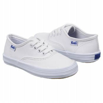 keds kids white leather champion
