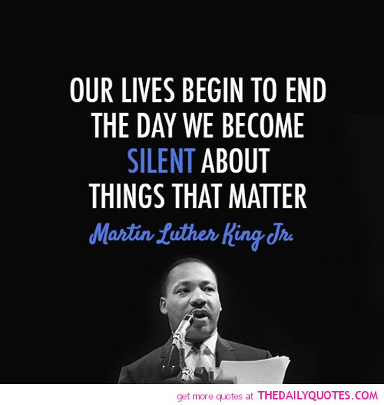 What's your favorite Martin Luther King Jr quote?