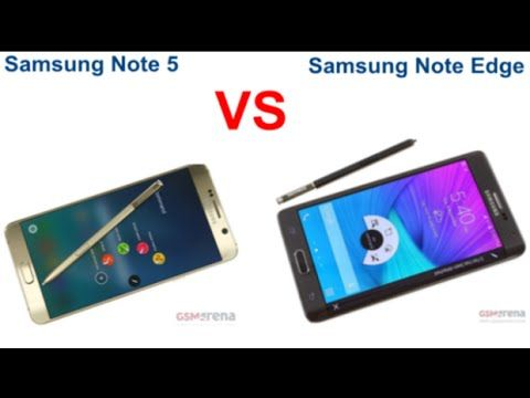 Samsung Note 5 Vs Note Edge Compariosn!-What's Difference?