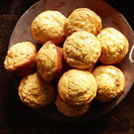 stuffed muffins recipe | Cornmeal Stuffing Muffins Recipe | Just A Pinch Recipes