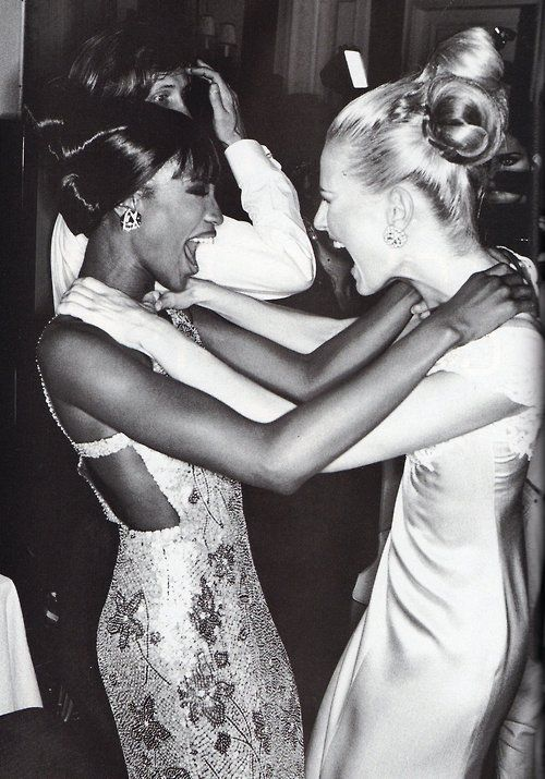 Naomi Campbell & Karen Mulder, early 90s | Lady | Pinterest | Naomi campbell and Karen o'neil