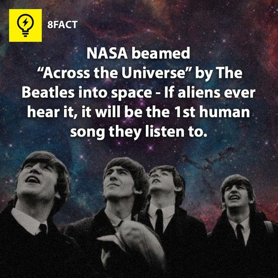"""NASA beamed """"Across the Universe"""" by The Beatles into space - If aliens ever hear it, it will be the first human song they listen to."""