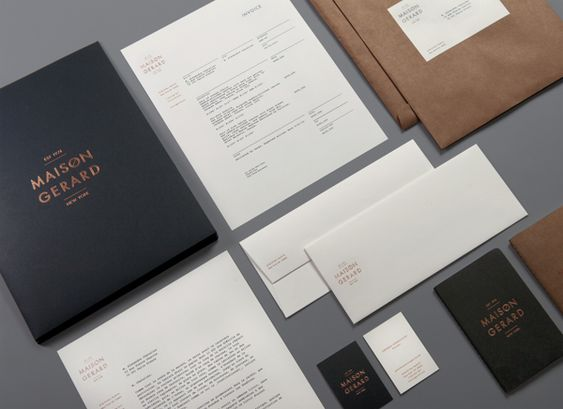 Maison Gerard by Christian Cervantes, via Behance - Great way to - resume holders