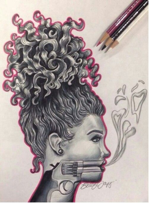 Most Dope Ink: A Woman's Strongest Weapon. Pretty Dope Art