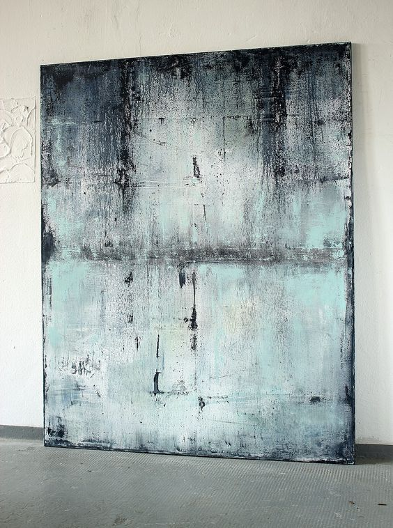 CHRISTIAN HETZEL: blue with past 2016 - 150 x 120 cm - Mischtechnik auf Leinwand,: