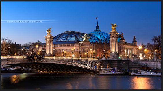 Pont Alexandre III et Grand Palais, Paris, France.