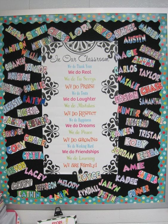 This b2school board is for older kids it 39 s inspirational for Pretty bulletin board