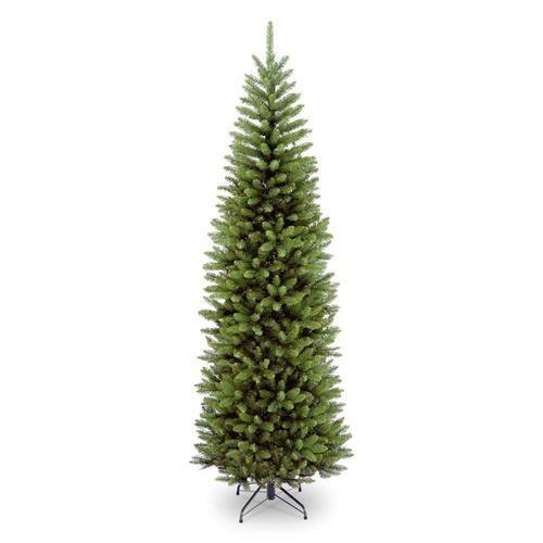National Tree Company 7 5 Ft Kingswood Fir Traditional Artificial Christmas Tree Lowes Com Slim Christmas Tree Pencil Christmas Tree Pencil Trees