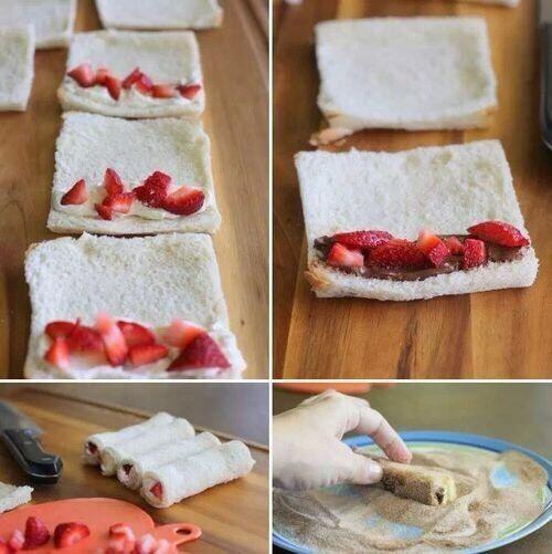 Easy Strawberry Nutella Breaded Rollups Great Recipes