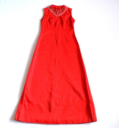 Stunning Vintage 70's Beaded Maxi Dress by Berkertex 10