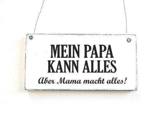 PAPA KANN ALLES Dekoschild Türschild Shabby  von DöRPKIND auf www.doerpkind.de