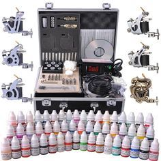 6-Gun Pro Tattoo Machine Kit w/ Case 54Ink