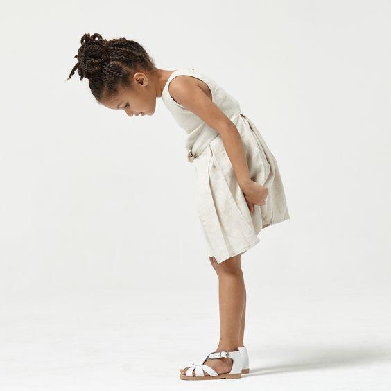 Little Tori wearing the Blake pinafore