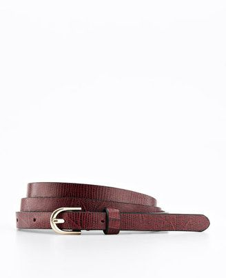 Ann Taylor Embossed Exotic Leather Skinny Belt (in one of the hottest colors for fall!), $34