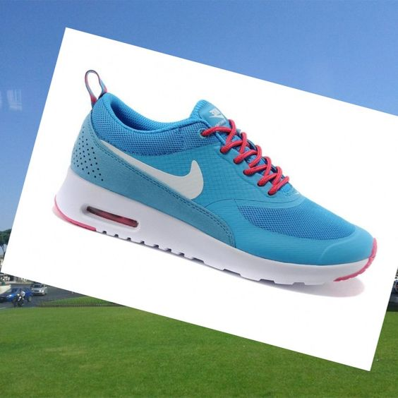 Nike Air Max Thea Print Scarpe Da Ginnastica Donna Blu/Bianco/Rosa,Big off for sneakers, impossible is nothing.