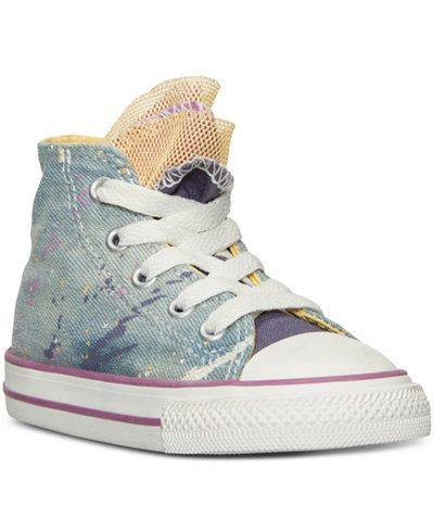 Converse Toddler Girls' Chuck Taylor All Star Party Casual Sneakers from Finish…