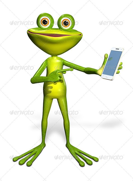 Frog With A Smartphone Abstract Illustration Of The Green Frog With A Smartphone Jpeg 45405476 Png Jpeg 45405476 Frog 3d Illustration Graphic Design Templates