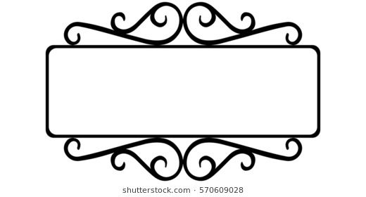 Vintage Wrought Iron Frame The Template For The Signs Of An Internet Store Retro Style Vector Frame Template Wrought Iron Sign Wrought Decor Interior Design