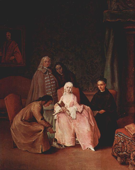 1746, Visita ad una Dama, Pietro Longhi: