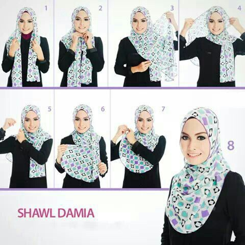 how to wear simple shawl