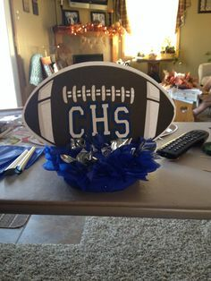 sports banquet decorations football banquet table centerpieces one for each senior