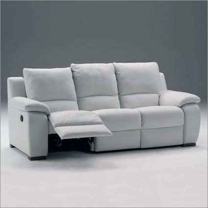 White Leather Recliner Sofa | Choosing Colors Leather Reclining Sofa  Reclining Sofa And Benefits For .