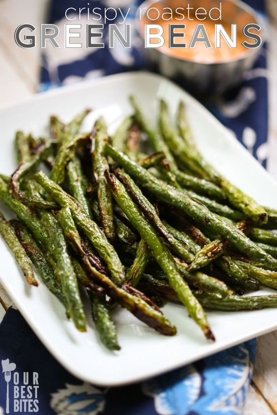 Crispy Roasted Green Beans from Our Best Bites vegetarian recipes