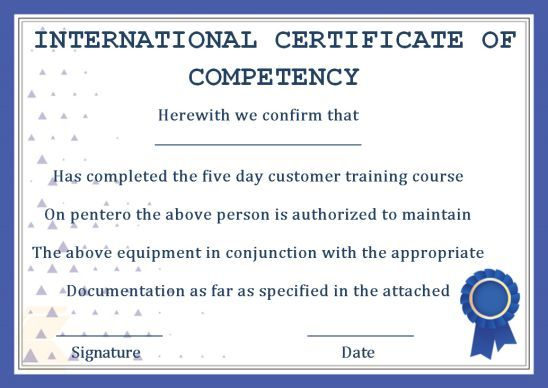 Certificate Of Competency 22 Templates In Word Excel And Pdf Template Sumo Certificate Templates Certificate Templates