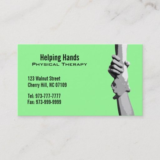 Physical Therapist Business Cards Zazzle Com In 2021 Physics Physical Therapist Therapist