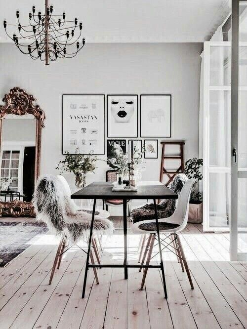 Beautiful Dining Room Idea Black And White Scandinavian Style Stylish H Scandinavian Dining Room Living Room Scandinavian Scandinavian Design Living Room