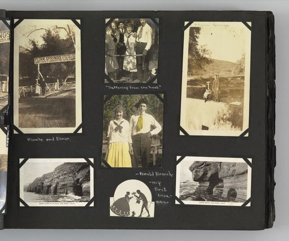 """Unknown photographer. The Story of my Life and Friends as Told by Snapshots from Fourteen On. 1916-23. Album of 680 gelatin silver prints. 10 x 13"""" (25.4 x 33 cm). Gift of Peter J. Cohen. 886.2010.7. The Story of my Life and Friends as Told by Snapshots from Fourteen On. Photography:"""